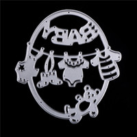 Wholesale Photo Album Diy Craft - Metal Cute Baby Clothes Bear Cutting Dies Embossing Template Stencils for DIY Scrapbook Album Frame Photo Cards Decor Crafts