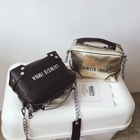 schwarze leder damen bürotaschen großhandel-Ledertaschen für Frauen Office Lady Large Casual Handtasche Black Sliver Fashion Design Mädchen Schulter Messenger Bag