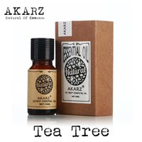 Wholesale tree essential oils resale online - AKARZ Famous brand natural TEA TREE essential Oil Aromatherapy face body skin care