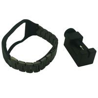 equipo de seguimiento al por mayor-Correa de pulsera ajustable de reemplazo de pulsera metálica de reemplazo para SAMSUNG GALAXY Gear S R750 Muñequera de acero (Sin rastreador)