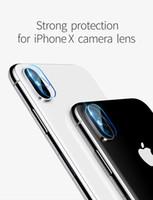 ingrosso occhiali temperati per il iphone-Adesivo protettivo per fotocamera posteriore per iPhone X ip 6 7 8 plus apple Pellicola protettiva per occhiali in vetro temperato per fotocamera Gass