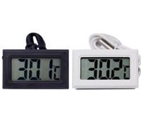 frigoríficos negros al por mayor-Nuevo Negro Blanco Termómetro Digital Frigorífico Congelador Medidor de Temperatura Hogar probador de temperatura del agua detector productos para el hogar