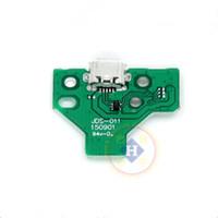 placa de circuito impreso al por mayor-10 unids / lote JDS-001 JDS-011 JDS-030 JDS-040 JDS-055 Carga USB Tarjeta de Socket Tarjeta de PCB para PS4 Controlador Mango de reparación