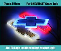emblèmes led achat en gros de-Emblème de voiture 17 * 5.5cm lumière pour Chevrolet cruze epica badge autocollant LED lumière 4D logo emblèmes lumière