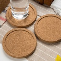 Wholesale wine pads - Classic Round Plain Cork Coasters Drink Wine Mats Cork Mat Drink Juice Pad for Wedding Party Gift Favor ZA5627