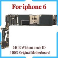 Wholesale unlock motherboard resale online - 64GB for iPhone Motherboard without Fingerprint Original Unlocked for iPhone Motherboard without Touch ID