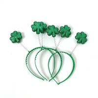ingrosso fasce dirette della fabbrica-Green Shamrock Headband Plastic Hair Ornaments Irlanda St Patricks Day Party Supplies Designer Fasce Factory Direct 2 4wt hh
