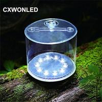 aufblasbare solarlaternen großhandel-Bewegliche aufblasbare Solarlicht IP65 3 Modi LED Camping Laterne Licht für Outdoor Wandern Garten Notlicht