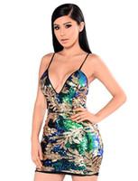 Wholesale nightclub drapes - 011 2018 autumn new European and American women's nightclub sequin dress dress