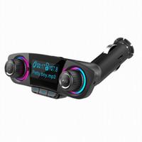 adaptador mp3 para iphone venda por atacado-Carro sem fio Bluetooth TF Card Mp3 Player Transmissores FM BT06 Adaptador de Rádio Com Kit Carregador Dual USB Carregador de Carro Com Grande Tela de LED