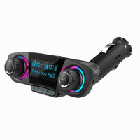 Wholesale bluetooth handsfree car kit for iphone online - Wireless Car Bluetooth TF Card Mp3 Player FM Transmitters BT06 Radio Adapter With Dual USB Charger Handsfree Car Kit With Large LED Screen