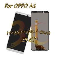 exibição de oppo venda por atacado-Novo 5.7 '' Branco Para OPPO A1 Full LCD Display + Touch Screen Digitador Assembléia 100% Testado Com Rastreamento