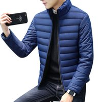 Wholesale Hooded Mens Light Jacket - 2017 Winter Mens White Duck Down Jacket Plus Size Warm Fleece Coat Ultra Light Goose Down Jacket 3XL 4XL Slim Fit Male Parka