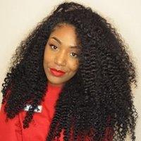 ingrosso parrucca ricci brasiliana afro kinky-Affascinanti parrucche piene del merletto dei capelli umani della regina per le donne nere Afro crespi ricci parrucche brasiliane del merletto dei capelli di Remy con i capelli del bambino