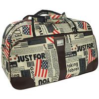 Wholesale european suitcase resale online - Waterproof Travel Handbag Men s European American Style Letter Printed Traveling Bag Zipper Bag Large Capacity Vkystar