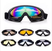 gafas de sol de skate al por mayor-Invierno Nieve Deportes Esquí Snowboard Moto de nieve Gafas Hombres Mujeres A prueba de viento Gafas a prueba de polvo Esquí Skate Gafas de sol Gafas UV400 al aire libre