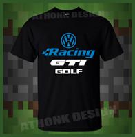 Wholesale vw golf racing online - Shirts For Men Volkswagen Vw Golf Gti Racing Mens T Shirt Mens T Shirt Summer O Neck Cotton