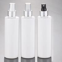 Wholesale aluminium bottle packages for sale - Group buy ml empty white spray bottle silver anodized aluminium spray bottle cc Cosmetic perfume packaging bottle