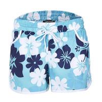 pantalones cortos correr usar gimnasio al por mayor-xBest venta Nueva impresión floral Deportes Shorts Gym Fitness Running Yoga Bottom Wear Banda Elástica S-2XL