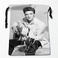 Wholesale w2 wholesale - J&w2 New Elvis Presley Custom Printed receive Bag Compression Type drawstring bags size 18X22cm W725&JYw2