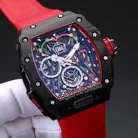 Wholesale Mens Big Case Watches - RM 50-03 McLaren F1 RM50 RM50-03 Carbon Fiber Titanium Case Big Date Automatic Mechanical Mens Watch Red Nylon Strap Sports Watches R53c3