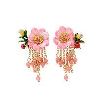 Wholesale Garden Plates - Les Nereides Garden Earrings Gold For Lady France Brand Jewelry Women S925 Ear Stud Floral Ladybug Tassel Chandelier Earring
