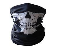 precio de cascos al por mayor-Cool Skull Bandana Bike Helmet Neck Mask Paintball Ski Sport Diadema nueva moda buena calidad precio bajo Party Supplies KKA1054