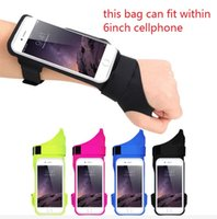 Wholesale thumb wrist - New running phone arm bag riding sports thumb arm with outdoor waterproof anti-theft wrist bag arm bag