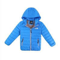 erkek çocuklar kışlık ceketler aşağı toptan satış-Ücretsiz kargo çocuk Kabanlar Erkek ve Kız Kış Sıcak Kapüşonlu Ceket Çocuk Giyim erkek Aşağı Ceket çocuk ceketleri 3-12 yıl
