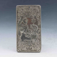 Wholesale hand carved necklace - Tibet Silver Hand-carved Chinese Zodiac Pendant Statue -Monkey