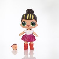 Wholesale lol brand - 10PCS 8 colors 13cm BIG LOL doll 13cm LOL Doll Dress Up Baby Dolls serie Toys For Girls figurines 2018 Brand new