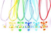 handgemachte eulenanhänger großhandel-QianBei Großhandel 6 teile / los Multicolor nachteule kuchen Glas Anhänger halsketten Schmuck Zubehör handarbeit Schmuck