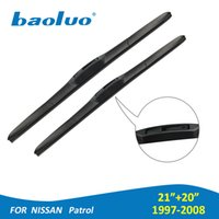 "Wholesale patrol cars - BAOLUO Windshield Wiper Blades For Nissan Patrol 1997-2008 21""&20"" Soft Natural Rubber Windscreen Wipers Car Accessories"