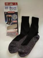 Wholesale Wholesale Wool Bags - carton Bag 35 Below Aluminized Fibers Sock Keep Your Feet Warm and dry Unisex Warm Socks free shipping