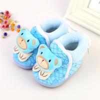 ayı ayakkabıları toptan satış-Güzel Bebek Sevimli Karikatür Ayı Bebek Çizmeler Kış Sıcak Bebekler Nemli Yerleşimler Toddlers Boots Üç renk seçimi