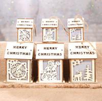 ingrosso albero si accende-Santa Elk alla moda piccola campana Light Up Christmas Ornament Piccola luce Xmas Tree Hanging Decoration New