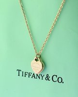 Wholesale brass clover pendant for sale - Group buy High Quality Celebrity design Letter Silver Clover necklace Silverware Fashion Metal Ring Heart shaped Pendant necklace Jewelry With Box
