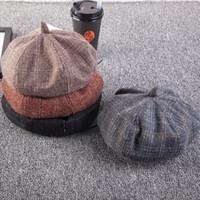 ingrosso bambini fiori viola viola-Cappelli berretto cappelli cappelli berretto cappelli cappelli berretto ottagonale cappelli cappelli berretti cappelli