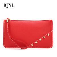Discount wholesale envelope red clutch bag - Luxury Handbags Women Bags Designer Envelope party mini Clutch wallet Vintage Evening wristlet coin Purse