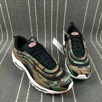 Wholesale sneaker shoes uk - 97 QS Country UK Italy Japan Camo OG Yellow Green Bullet M Premium QS Running Shoes Sneakers Men with Box