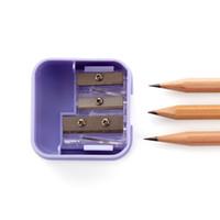 aiguisoirs manuels achat en gros de-Efficace Manuel Mini Deli Couteau Taille-crayon Taille-crayons Pour Enfants Scolaire Dessin Animé Taille-crayon École Fixe