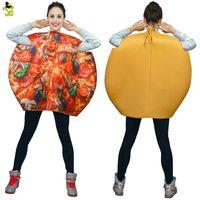 traje de fantasia traje de mascote venda por atacado-2018 Adulto Pizza Traje Da Mascote Engraçado Emoji Esponja Roupas Fancy Dress In Christmas Traje Terno Legal Para Adultos