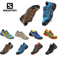 Wholesale cross medium - salomon Speed cross 3 CS III Hiking Shoes mens shoe cross country Black Silver Outdoor sport shoes Running sneakers shoes size 40-46