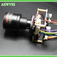 Wholesale mini camera board lens - AHWVSE HD 1920*1080P 720P 960P HD POE IP Mini camera kamera module board 2.8-12mm Lens with LAN cable security camera ONVIF P2P