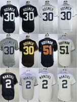 Wholesale Navy Cool - 2018 New Team Eric Hosmer Jersey #30 51 Trevor Hoffman Home Away Baseball Jerseys White Navy Gray Stitched Flexbase Cool Base