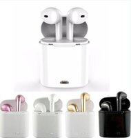 Wholesale Earphone Packing Box - I7S TWS Bluetooth Headphones with Charger Box Twins Wireless Earphones Earbuds for iPhone X IOS iPhone Android Samsung with retial packing b