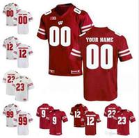 9faede02d57 2019 Custom NCAA Wisconsin Badgers 16 Russell Wilson 23 Jonathan Taylor 99  J. J. Watt 28 Montee Ball Football Jerseys S-3XL