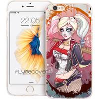 couvertures de téléphone d'iphone 4s achat en gros de-Coque Harley Coque en silicone TPU Quinn Clear Soft pour iPhone X 7 8 Plus 5S 5 SE 6 6S Plus 5C 4S 4 iPod Touch 6.
