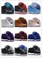 черные мужские сапоги оптовых-Дешевые Новые 11S Белый Черный Темный КонкордS 11 Спортивная обувь 11's Concord Баскетбольная обувь Мужская легкая атлетика Sneaker Boots бесплатная доставка