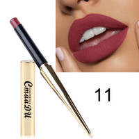 Wholesale lipstick supply wholesale for sale - Brand CmaaDu Gold Tube Matte Lipstick Colors Matte Lipstick Professional Lips Makeup Supplies Brand Comestic Supply DHL